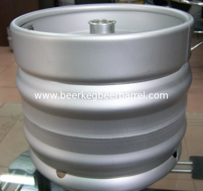 Popular AISI 304  Food grade stainless steel container drum draft empty Euro beer keg 30L barrel