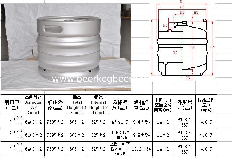 europe keg 30L volume, stackable ,with micro matic spears. for craft beer