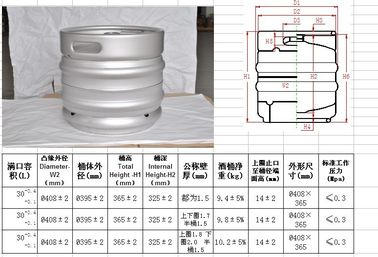 China europe keg 30L volume, stackable ,with micro matic spears. for craft beer distributor